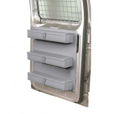 Van Door Storage - 3 Lockable Trays, Dividers