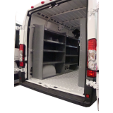 "Set of 2 Nissan NV Cargo Van Shelving Units - High Roof - 59""Hx45""Lx16""D"
