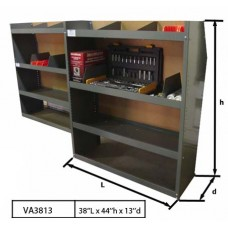 "Steel Shelving Unit 38""Lx44""Hx13""D"