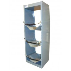 Freon tank holder tower with top shelf